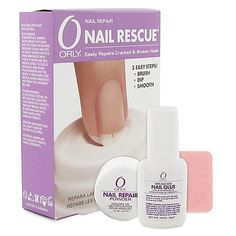 """Orly nail rescue. No more short """"E.T."""" nails for me."""