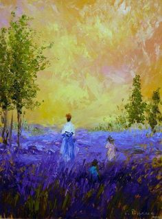 Camille Pissarro, Lavender fields, 1909