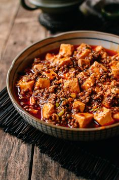 This mapo tofu recipe (麻婆豆腐) is the true blue, authentic real deal––the spicy, numbing, rice-is-not-optional Sichuan mapo tofu you get in restaurants. Vegan Recipes Videos, Asian Recipes, Cooking Recipes, Healthy Recipes, Japanese Tofu Recipes, Japanese Dishes, Freezer Recipes, Simply Recipes, Healthy Baking