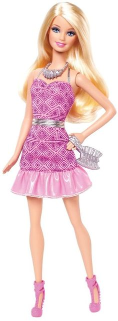 Barbie Fashionista Party Glam Barbie Doll, Pink Strapless