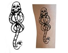 Harry Potter Dark Mark Temporary Tattoo