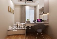 Modern Luxury With Woody Furniture At The Rainforest Small Room Bedroom, Small Rooms, Small Spaces, Bedroom Decor, Home Room Design, Home Office Design, Beige Living Rooms, Condo Interior, House Rooms