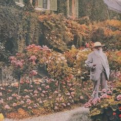 """#TGIF Claude Monet in his garden #hellospring ""Everyone discusses my art and pretends to understand, as if it were necessary to understand, when it is…"""
