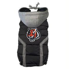 Cincinnati Bengals Dog Puffer Vest