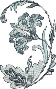 Grand Sewing Embroidery Designs At Home Ideas. Beauteous Finished Sewing Embroidery Designs At Home Ideas. Crewel Embroidery Kits, Hand Embroidery Tutorial, Ribbon Embroidery, Machine Embroidery Designs, Embroidery Patterns, Japanese Embroidery, Lesage, Pattern Art, Art Patterns