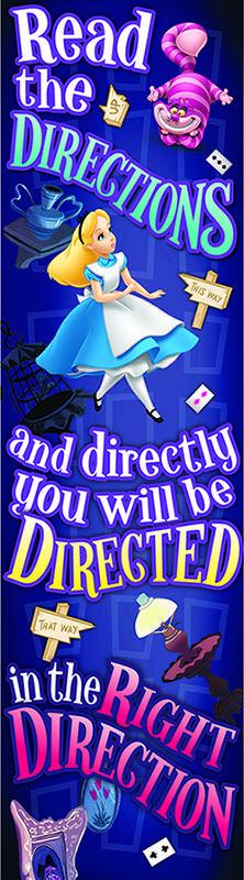 Eureka Alice in Wonderland Right Direction: Vertical Banner