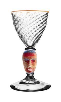 Head First Blue/G goblet by Bertil Vallien