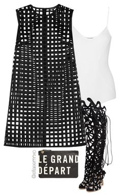 """""""Le Grand Départ"""" by efiaeemnxo ❤ liked on Polyvore featuring Body Editions, Versace, Sophia Webster, Clare V., topshop, sbemnxo and styledbyemnxo"""