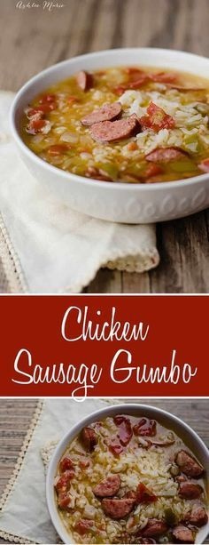 Chicken and Sausage Gumbo recipe. One of my families favorite dishes. Chicken and Sausage Gumbo recipe. One of my families favorite dishes. Kid friendly personalized version with no okra and some roux, but one that every. Spicy Recipes, Seafood Recipes, Crockpot Recipes, Soup Recipes, Haitian Recipes, Crockpot Gumbo Recipe, Easy Gumbo Recipe, Crock Pot Gumbo, Cajun Gumbo Recipe