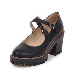 2017 Spring Fashion Vintage Women Thick Heel Shoes Women Pumps Causal Platform Mary Janes Women Shoes High Heels Black Beige #Black high heels http://www.ku-ki-shop.com/shop/black-high-heels/2017-spring-fashion-vintage-women-thick-heel-shoes-women-pumps-causal-platform-mary-janes-women-shoes-high-heels-black-beige/