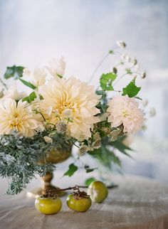 Beautiful Dahlia centrepiece | Tracy and Andrew Charlottesville, Virginia Wedding