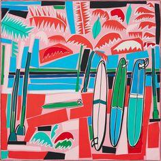 "Carré Hermès  -  ""Sea, Surf and Fun"""