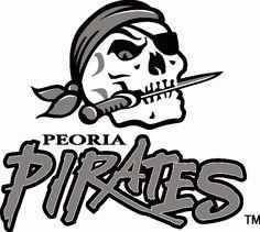Peoria Pirates Primary Logo - Arena Football 2 (AF2)