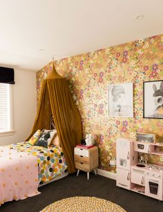 As a queen of colour and pattern, it's only natural that Kelly Coe would stamp her new home with her signature style. See more of this luxury makeover Home And Living, Living Room, Inside Home, Baby Makes, Kids Room Design, Queen, Kid Spaces, Kids Bedroom, Kids Rooms