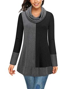Looking for Bebonnie Women's Cowl Neck Long Sleeve Splicing Hoodie Sweatshirt Pullover Tunics Top ? Check out our picks for the Bebonnie Women's Cowl Neck Long Sleeve Splicing Hoodie Sweatshirt Pullover Tunics Top from the popular stores - all in one. Hoodie Sweatshirts, Fashion Sweatshirts, Pullover Sweaters, Fashion Tips For Women, Ladies Fashion, Leggings Fashion, Tunic Tops, Tunic Blouse, Cowl Neck