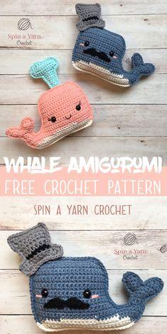 Whale Amigurumi- Spin a Yarn Crochet #knittingneedles