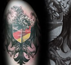 3d Guys Unique German Eagle Tattoo Designs On Arm