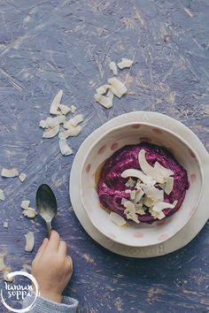 Bataatti nice cream - maidoton jätski syntyy violestista bataatista