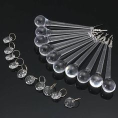10 PCS Lot Clear Crystal Glass Chandelier Lamp Part Drops Prisms Pendants  Worldwide delivery. Original best quality product for 70% of it's real price. Buying this product is extra profitable, because we have good production source. 1 day products dispatch from warehouse. Fast &...