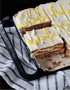 No Bake Lemon Cream Icebox Cake