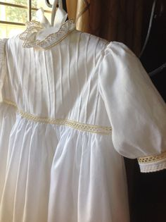 Christening Gown with Swiss Embroideries and by CatherynCollins