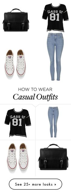 """casual"" by gatitogris on Polyvore featuring Topshop, Converse, Aspinal of London, women's clothing, women, female, woman, misses and juniors"