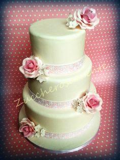 Zuccherosamente...: Wedding cake romantica con le rose