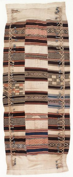 Kpokpo cloth hammock from Sierra Leone | Cotton | Karun Collection of West African 19th century textiles