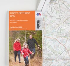 Create a personalised OS map centred on your favourite location, your own cover photo and title from with free delivery. Includes canvas and framed options - ideal gift or holiday memento. Os Maps, Happy Birthday Dad, Travel Maps, Get Outside, Cover Photos, Canvas Frame, Custom Made, Gift Ideas, Thoughts