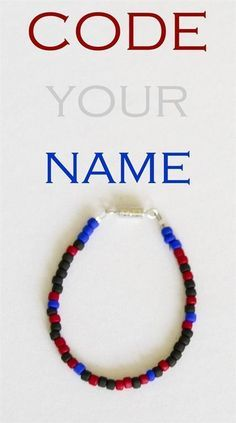 Your Name in Jewelry STEM Fun for Kids Write your name in binary code - this is a fun STEM and STEAM intro to programming activity for kids!Write your name in binary code - this is a fun STEM and STEAM intro to programming activity for kids! Stem Science, Teaching Science, Science For Kids, Spy Kids, Robots For Kids, Life Science, Steam Activities, Science Activities, Activities For Kids