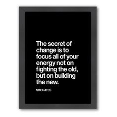 "Inspirational Print Typography Poster ""The Secret of Change"" Socrates Inspirational Quote Home Decor Typography Motivation Summer Trends Daily Quotes, Great Quotes, Quotes To Live By, Me Quotes, Motivational Quotes, Inspirational Quotes, Qoutes, The Words, A Course In Miracles"
