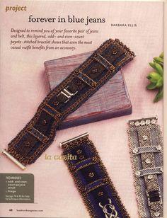 Браслет Forever in Blue Jeans. Beadwork 2009 08-09 / Схемы / Бусинка