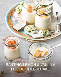 Prepare a Banting Lemon & Vanilla Fridge Cheesecake easily with this recipe…