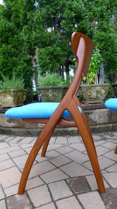 Mid century Modern styled Teak DINING CHAIRS by CIRCA60 on Etsy