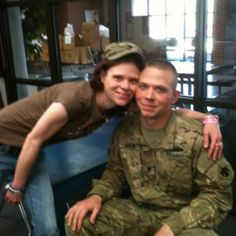 My brother Shane back from overseas. I haven't seen him in almost 8-7momths.