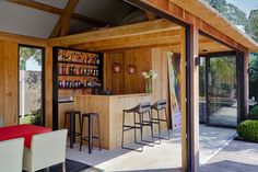 Outdoor Rooms, Outdoor Living, Outdoor Decor, Garden Bar Shed, Massage Room Decor, Pub Sheds, Outside Bars, Home Bar Designs, Backyard Patio Designs