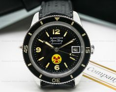 European Watch Company: Blancpain Vintage Fifty Fathoms Aqualung NO RADIATION Circa 1960's 36MM