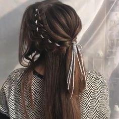 Cute Hairstyles For Medium Hair, Bride Hairstyles, Down Hairstyles, Medium Hair Styles, Easy Hairstyles, Front Hair Styles, Wig Styles, Curly Hair Styles, Hair Tips Video