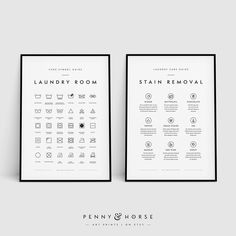 Laundry Room - grid structure or icon layout. Sans serif and clean lines make this an easy and digestible informational chart. Printing Services, Online Printing, Laundry Symbols, Laundry Room Art, Laundry Closet, Websites Like Etsy, Etsy Handmade, Handmade Art, Printable Wall Art