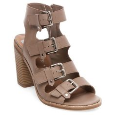 783dc4664d594 Women s dv Tessa Multiple Buckle Heeled Quarter Strap Sandals - Tan 10    Target Ankle Strap