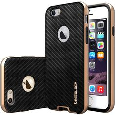 Caseology® iPhone 6 case [Envoy Series] [Carbon Fiber Black]