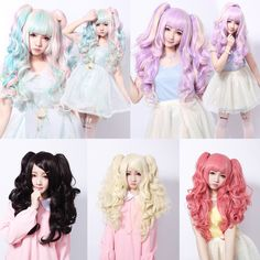 "Japanese kawaii cosplay harajuku lolita anime wigs - Use the code ""batty"" at Sanrense for a 10% discount!"