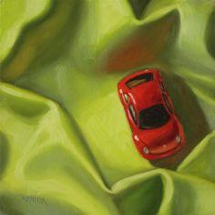 """Snug as a bug 6x6  oil on board"" - Original Fine Art for Sale - © Claudia Hammer"