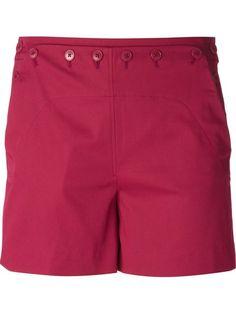 DAISY CAPRI Loro Piana Button Detailed Shorts - First Boutique - Farfetch.com