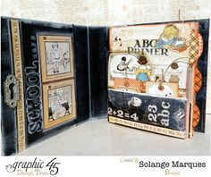 Mixed Media Album using Graphic 45 An ABC Primer collection 2 (1)