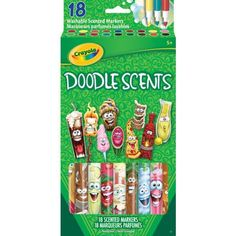 Just bought these at Kroger, sold individually, for $.23 a piece! (on 9/16/2015). SO cute! Crayola Doodle Scents Markers, 18/Pack| Staples