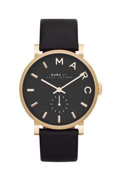 This elegant black and gold watch has a polished and classic look making it the fave accessory for everyday wear.