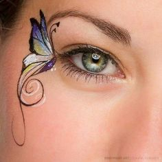 Face Painting butterfly eye