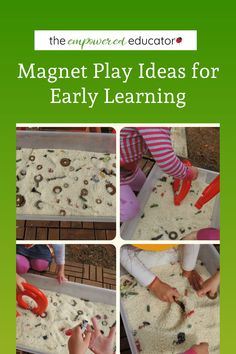 Sensory Fine Motor Magnet Fun with Recycled Materials - The Empowered Educator