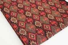 Traditionelle, ethnische Stammes-Stil Möbelstoff, Baumwoll-Gewebe, Gobelin Stoff, aztekische Navajo geometrische Kilim Stoff